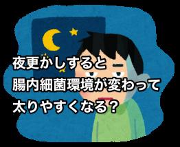 夜更かしすると 腸内細菌環境が変わって太りやすくなる?