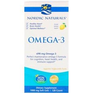 Nordic Naturals, Omega-3、Lemon、1000 mg、120ソフトジェル