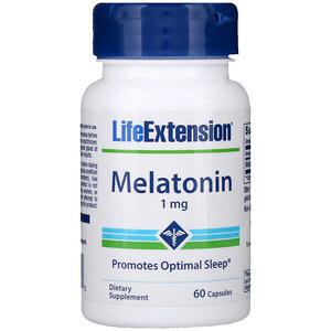 Life Extension, メラトニン, 1 mg, 60カプセル